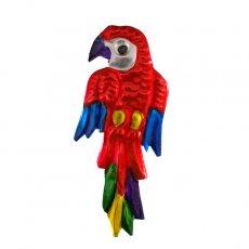 トリ (鳥) 雑貨 メキシコ ブリキ マグネット(オウム)