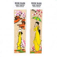 手書きイラスト ベトナム 手描きしおり【Hand peinted book mark】(D)