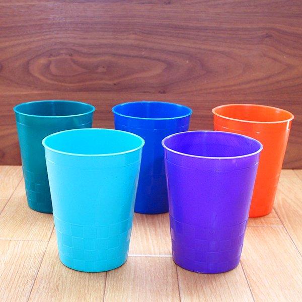セネガル プラスチックコップ(0.4リットル 5色)【画像2】