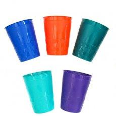 セネガル プラスチックコップ(0.4リットル 5色)