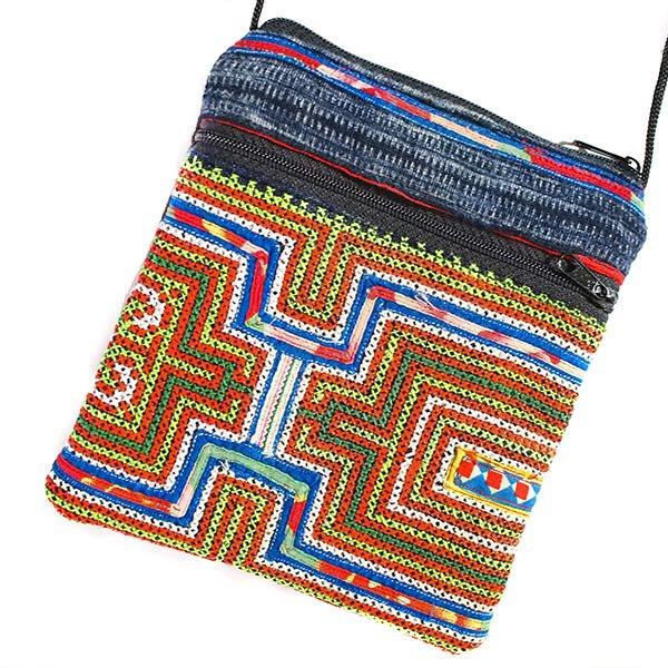 ベトナム 少数民族 モン族 刺繍 ポシェット(B)