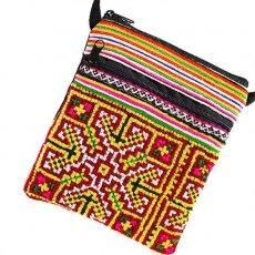 モン族 刺繍 ポシェット(F 15×13)民族 刺繍 / ベトナム直輸入