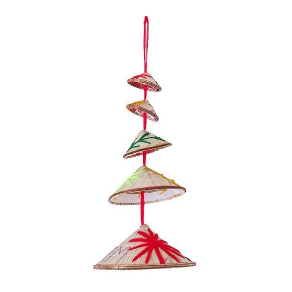 ベトナム ノンラー 刺繍 ハンギング オーナメント(約28cm)