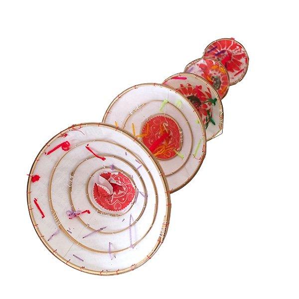 ベトナム ノンラー 刺繍 ハンギング オーナメント(約28cm)【画像2】