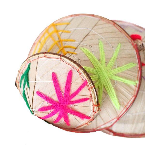ベトナム ノンラー 刺繍 ハンギング オーナメント(約28cm)【画像3】