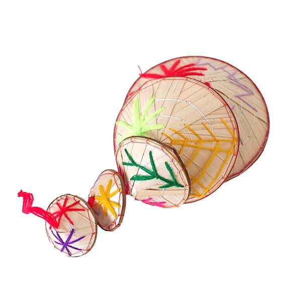 ベトナム ノンラー 刺繍 ハンギング オーナメント(約28cm)【画像5】