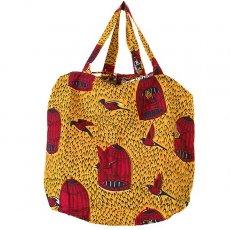 世界に繋がるお買い物 マリ 巾着 エコバッグ(鳥かご)