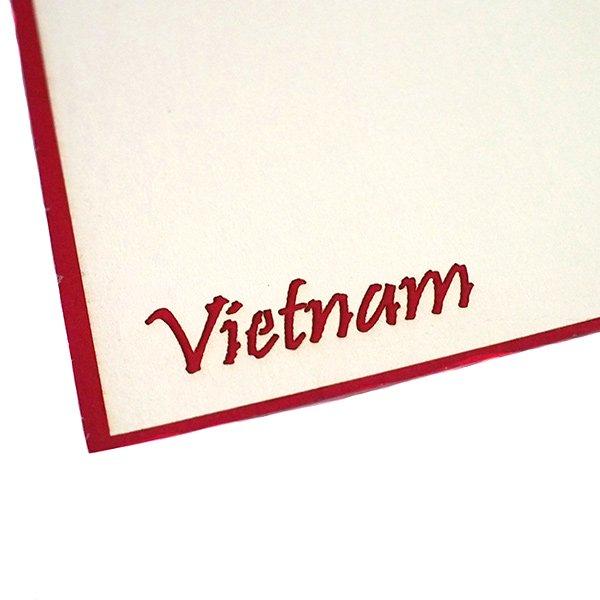 ベトナム 切り絵 ポップアップカード(果物と子供  15×10)【画像4】
