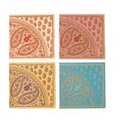 メッセージカード インド chimanlals メッセージカード(ペイズリー 封筒付き)