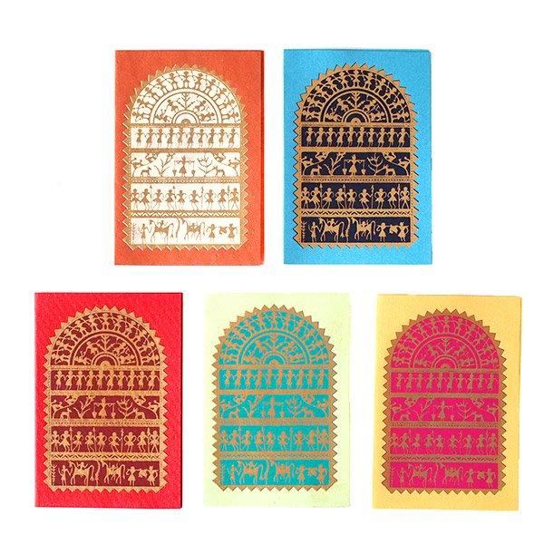 インド chimanlals (チマンラール)メッセージカード NIKITA 動物と人(封筒なし)
