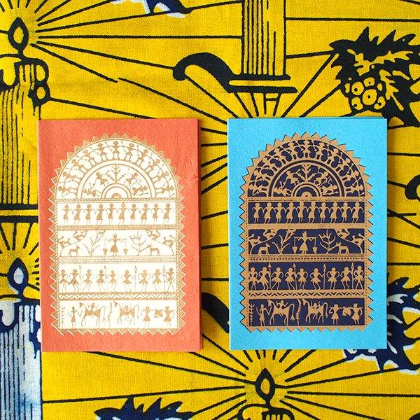 インド chimanlals (チマンラール)メッセージカード NIKITA 動物と人(封筒なし)【画像2】