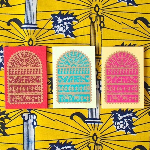 インド chimanlals (チマンラール)メッセージカード NIKITA 動物と人(封筒なし)【画像3】