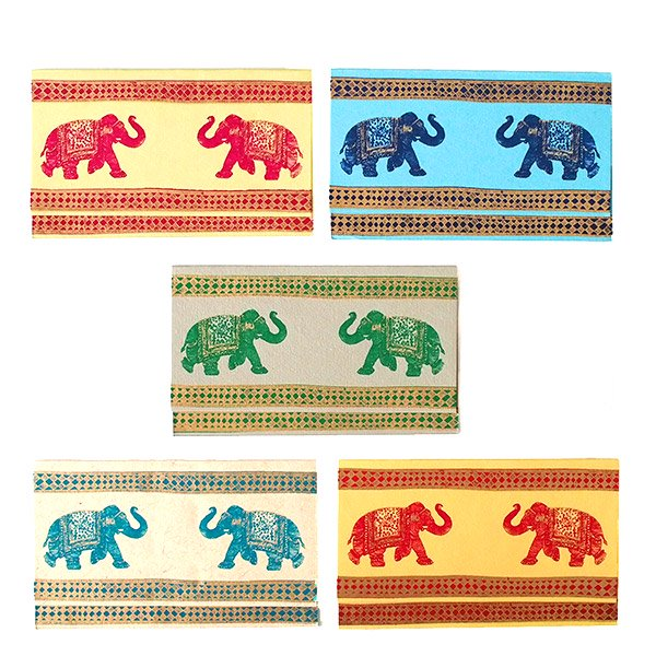 インド  chimanlals (チマンラール)メッセージカード AMBARI ゾウ(封筒付き)