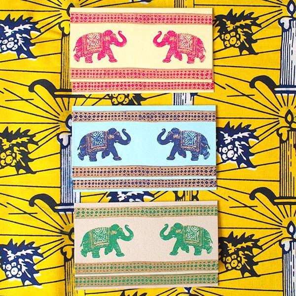 インド  chimanlals (チマンラール) ゾウ メッセージカード(封筒付き)【画像2】