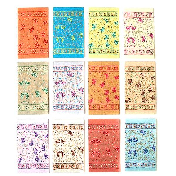 インド  chimanlals メッセージカード(お花柄)