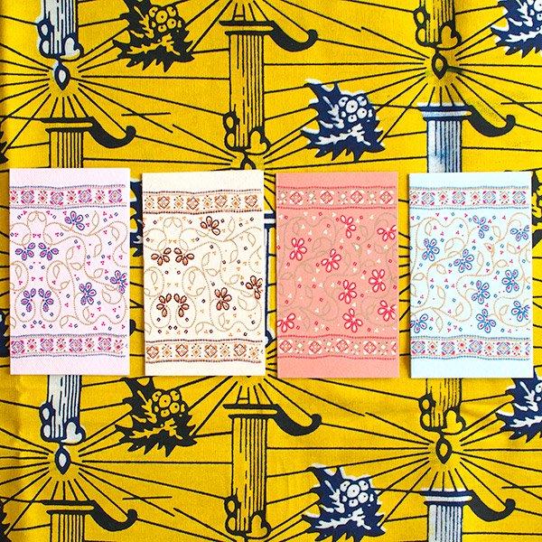 インド  chimanlals(チマンラール)メッセージカード LATIKA 花(封筒付き)【画像4】