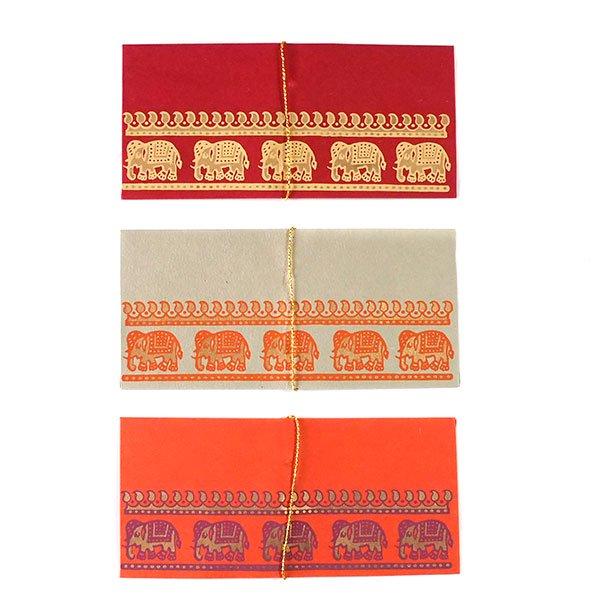 インド chimanlals(チマンラール) の封筒 ゾウ A【画像2】