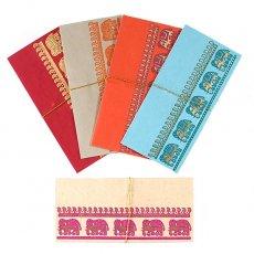 インド Chimanlals の封筒(ぞう 5色 A)