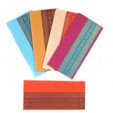 茶・ブラウン 雑貨 インド chimanlals(チマンラール)の封筒(模様)