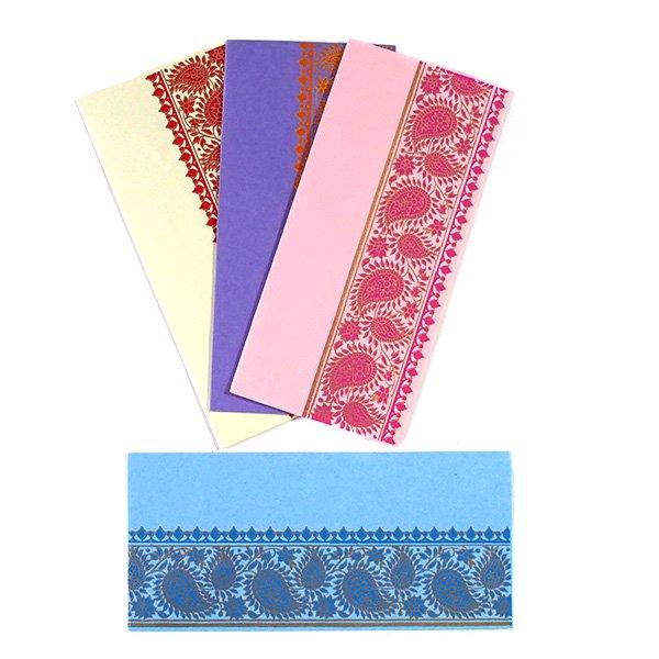 インド chimanlals(チマンラール)の封筒 ペイズリー  4色