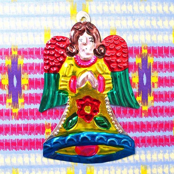 メキシコ ブリキオーナメント(天使)【画像2】