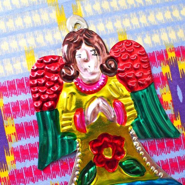 メキシコ ブリキオーナメント(天使)【画像3】