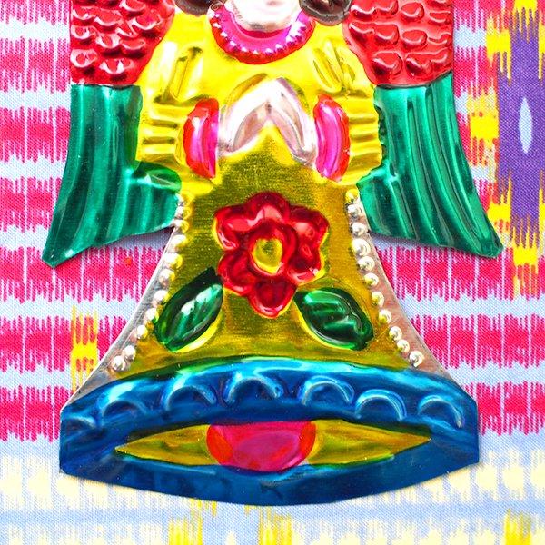 メキシコ ブリキオーナメント(天使)【画像4】