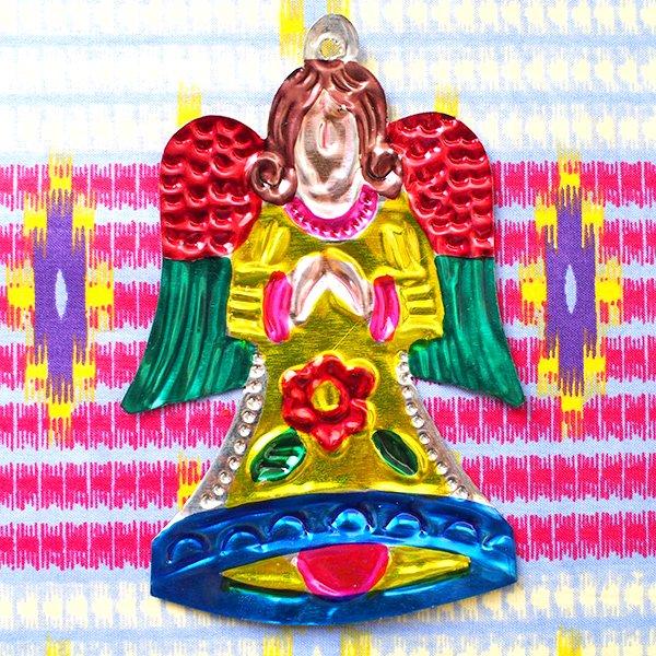 メキシコ ブリキオーナメント(天使)【画像5】