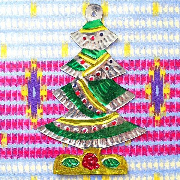 メキシコ ブリキオーナメント(クリスマスツリー)【画像5】