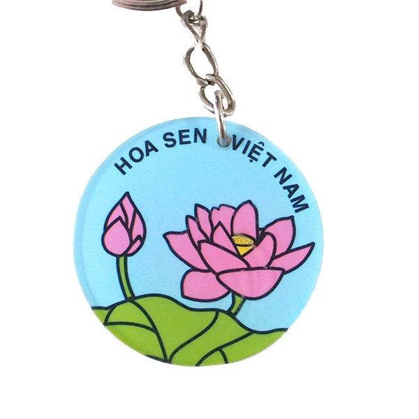 ベトナム 蓮の花(ロータス)キーホルダー【画像2】