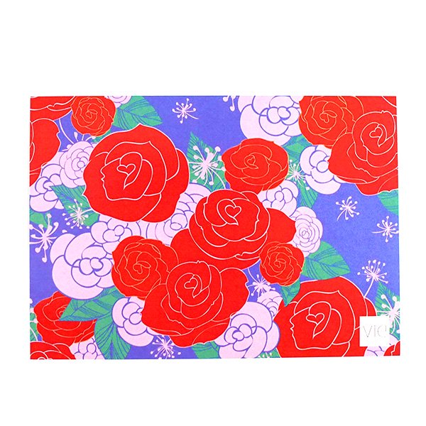 カラフルなポストカード(薔薇 ローズ)