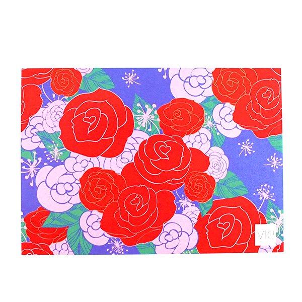 台湾 カラフルポストカード(薔薇 ローズ)