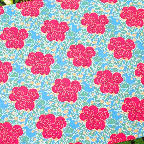 カラフルなポストカード(小さな お花)