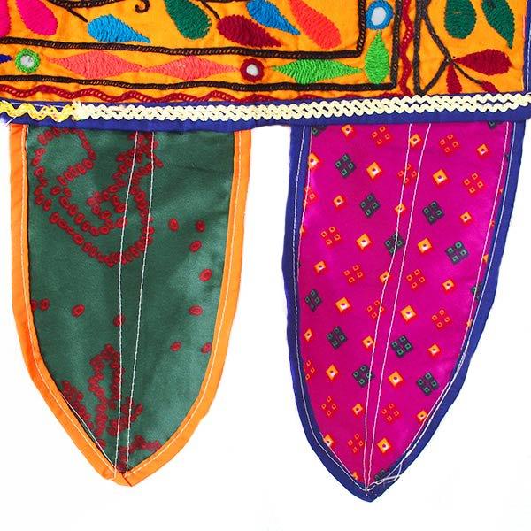 インド 古布 刺繍 タペストリー 飾り B(1点もの)【画像6】