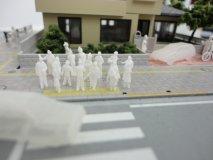 【30%オフ】 1/200 未塗装 立っている立体人物模型 200体セット