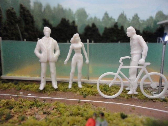 【超特価】1/50 立体人形 ランダム20体+自転車4台セット