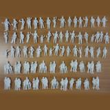 未塗装HO人形ファミリーカップル約100体