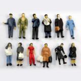 通勤時間帯の人々立っている人12体