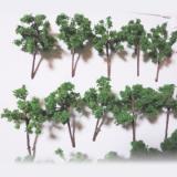 高品質手作り樹木ダークグリーン H=3.5cm 8本