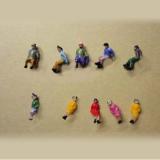 Nゲージプレミアム座っている男女20体