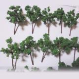 高品質手作り樹木ダークグリーン 4本 H=5cm