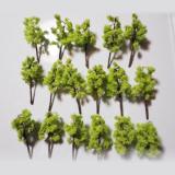 高品質手作り樹木 ライトグリーン 6本 H=5cm