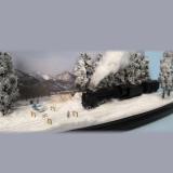 Nゲージのミニディスプレイ『雪国』