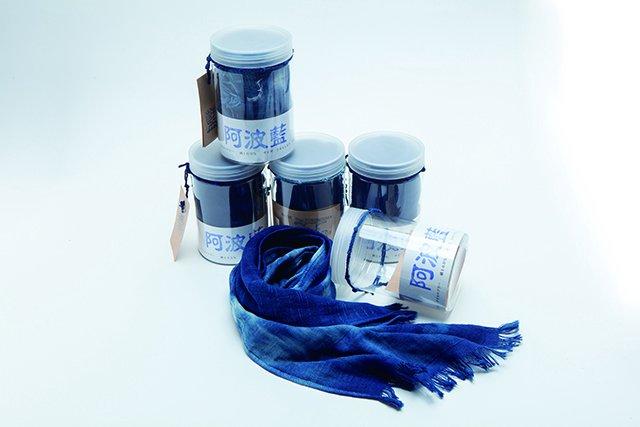 藍染 タオルマフラー(5枚セット)