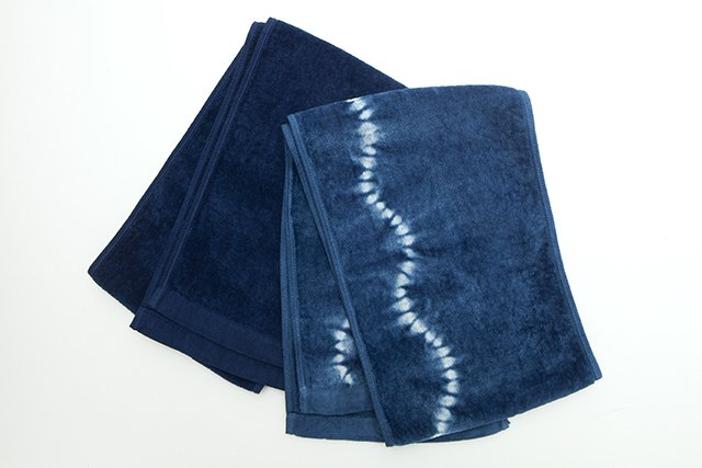藍染スポーツタオル
