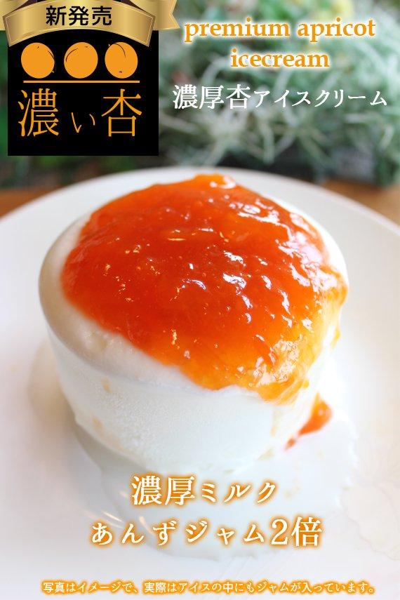 【送料込み】【限定15箱】新発売★杏ジャム2倍の濃厚プレミアム杏アイス 6個セット