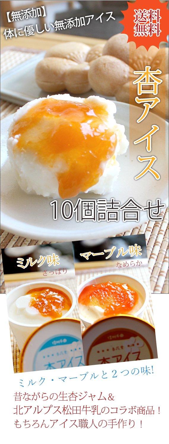 杏アイス(詰合せ)10個入れ<送料込>