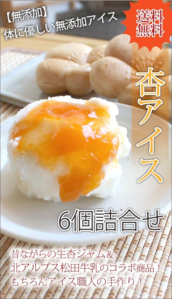 杏アイス(詰合せ)6個入れ<送料込>