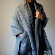 Shawl Uni gray