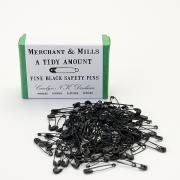 Fine Black Safety Pins